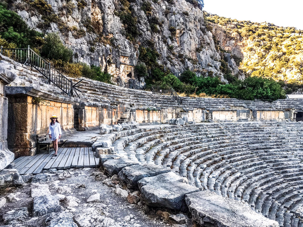 The amphitheatre, with a boat cruise friend walking about
