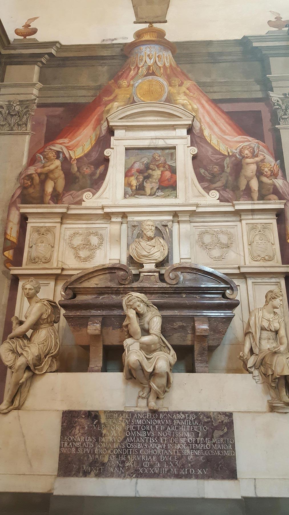 Church of Santa Croce, where Michelangelo is buried