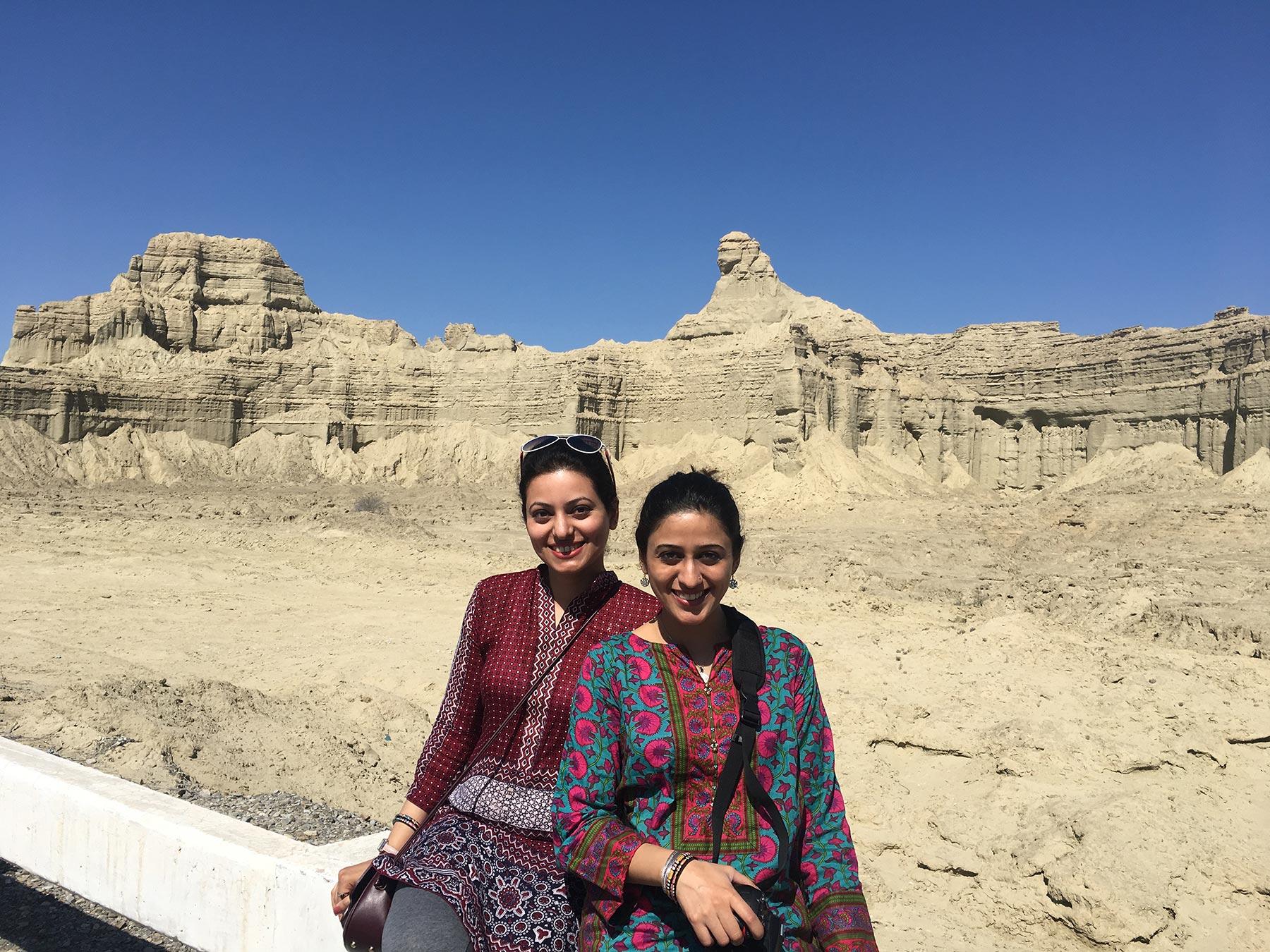 Zainab Altaf with Sister